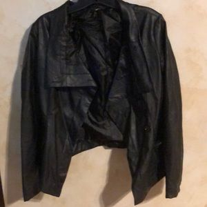 Ark and co faux black leather jacket